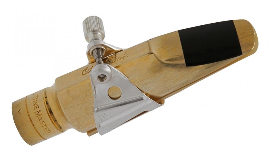 Exemplo de utilização em uma boquilha Otto Link Tone Master Metal, que não acompanha a abraçadeira.
