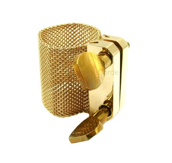 Imagem Extra 2: Abraçadeira Oleg Golden - Boquilha Plástica #06 - Sax Tenor Bb / Sax Barítono Eb.