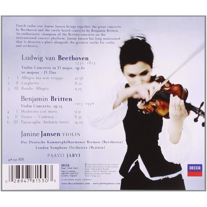 Imagem Extra 2: CD Concertos para Violino - BEETHOVEN/BRITTEN - Janine Jansen.