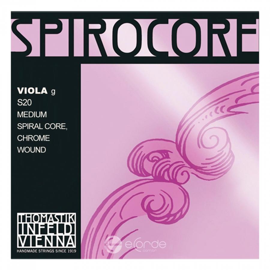 Imagem Extra 3: Jogo de Cordas para Viola - THOMASTIK SPIROCORE - CROMO / MÉDIA.