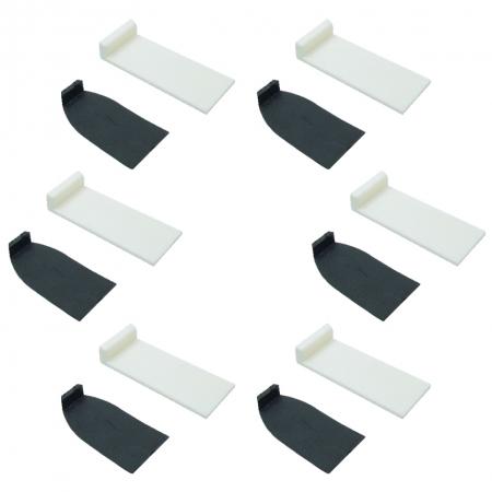 Foto principal do produto 6 x Ponteiras em Osso para Arco de Violino - Com Guarnições