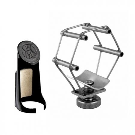 Foto principal do produto Abraçadeira Francois Louis Ultimate / Prata - Boquilha Metal - Sax Alto Eb