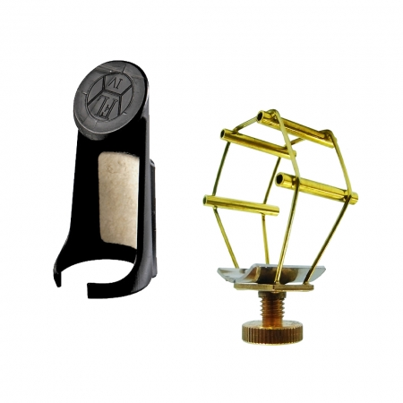 Foto principal do produto Abraçadeira Francois Louis Ultimate - Boquilha Metal / Dourada - Sax Tenor Bb