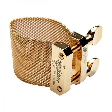 Foto principal do produto Abraçadeira Oleg Golden - Boquilha Plástica #06 - Sax Tenor Bb / Sax Barítono Eb