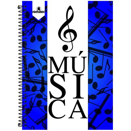 Foto principal do produto Caderno de Música Universitário Pautado 2/4 Capa Dura - 96 Folhas
