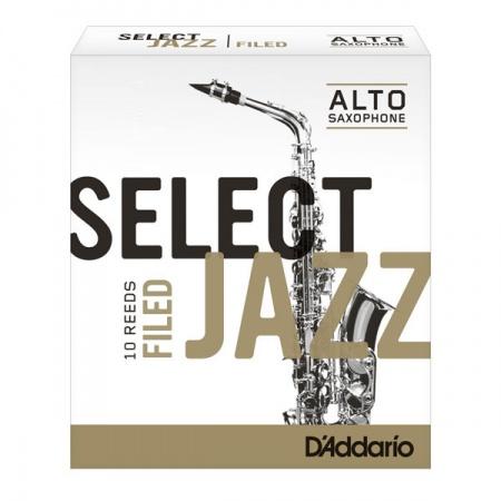 Foto principal do produto Caixa de Palhetas Daddário Select Jazz Filed - 3.0 Hard - Sax Alto