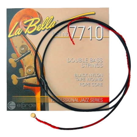 Foto principal do produto Corda MÍ BAIXO 3/4 - LA BELLA 7710 BLACK NYLON TAPE WOUND