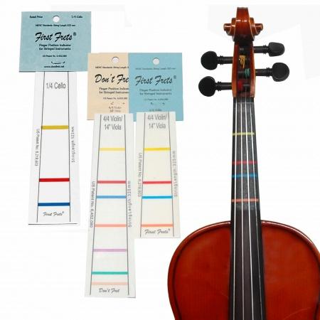 Foto principal do produto Escala Adesiva para Marcação - First Frets - Violino 4/4 e Viola 14