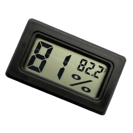 Foto principal do produto Higrômetro e Termômetro Duo Square eCorde - Preto