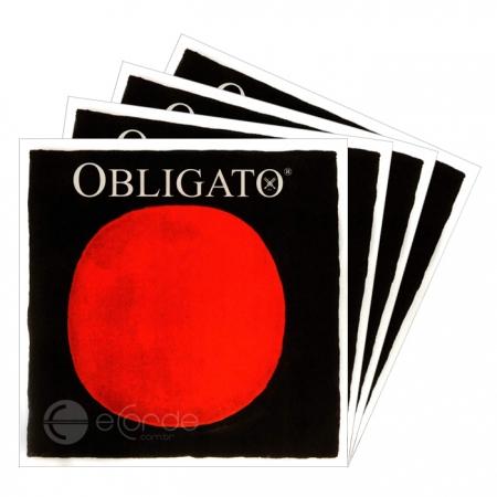Foto principal do produto Jogo de Cordas para Violino - PIRASTRO OBLIGATO - GOLD / MÉDIA
