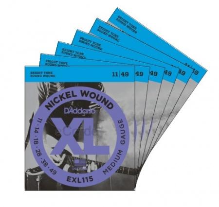 Foto principal do produto Jogo de Cordas para Guitarra Elétrica - Daddário XL Nickel Wound EXL115B - Regular Light