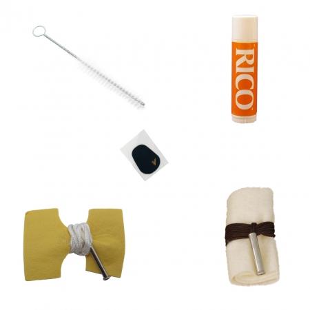 Foto principal do produto Kit de Limpeza P/ Clarineta Bb - 2 Toalhas / 1 Cushion / 1 Grease / 1 Bastonete