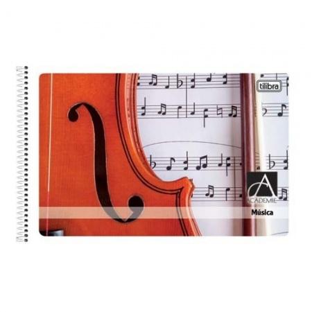 Foto principal do produto Caderno de Música Pautado 1/4 Capa Flexível Tilibra - Capa A - 48 Folhas