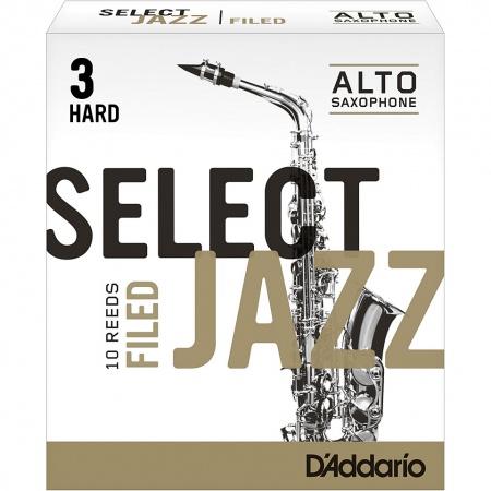 Foto principal do produto Caixa de Palhetas Rico Select Jazz Filed - 3.0 Medium - Sax Alto