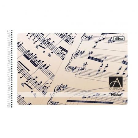 Foto principal do produto Caderno de Música Pautado 1/4 Capa Flexível Tilibra - Capa B - 48 Folhas